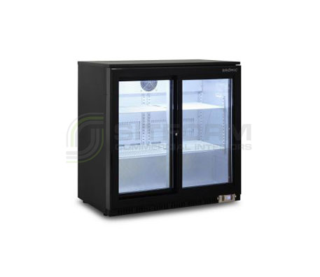 Bromic – BB0200GDS – NR Back Bar Display Chiller 190L (Sliding Door) | Bar Displays