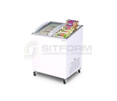 Bromic – CF0200ATCG Angled Glass Top 176L Chest Freezer | Chest Freezer - Displays