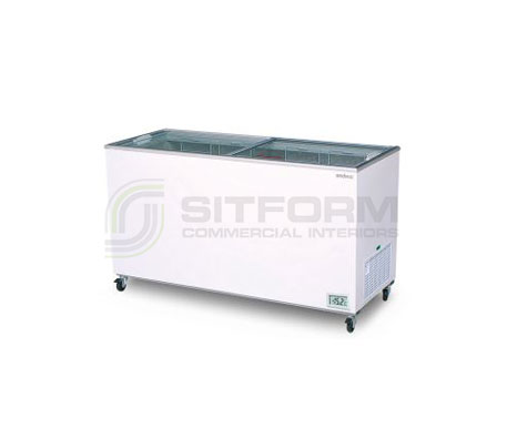 Bromic – CF0500FTFG Flat Glass Top 491LChest Freezer | Chest Freezer - Displays