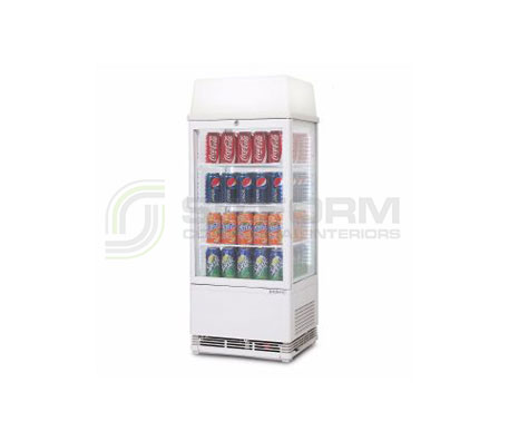 Bromic –  CT0080G4LW White Flat Glass 78L LED with Lightbox Countertop Beverage Chiller | countertop-chiller-fridges