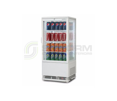 Bromic –  CT0080G4W White Flat Glass 78L LED Countertop Beverage Chiller | countertop-chiller-fridges