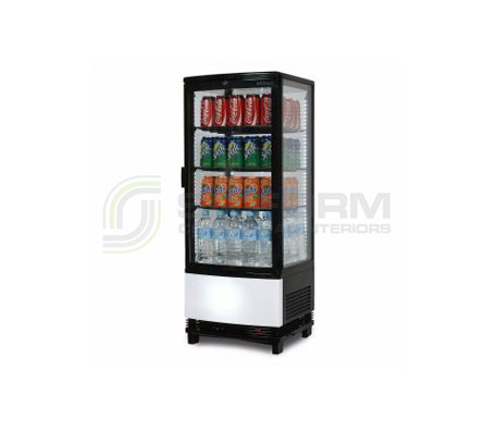Bromic –  CT0100G4BC Black Curved Glass 98L LED Countertop Beverage Chiller | countertop-chiller-fridges