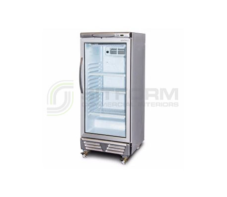 Bromic – GM0220 LED ECO Flat Glass 215L Upright Display Chiller | Floor Standing - Cold Displays