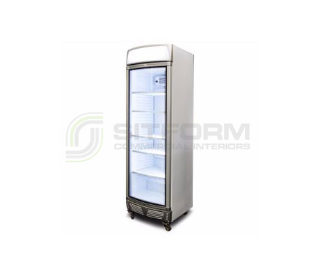 Bromic – GM0400LC LED LED Curved Glass Door 380L Upright Display Chiller with Lightbox | Floor Standing - Cold Displays