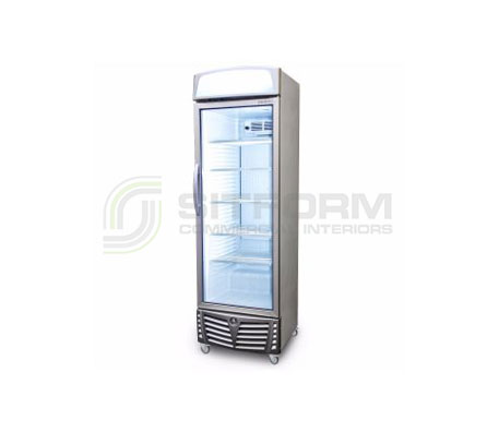 Bromic – GM0440L LED LED Flat Glass Door 438L Upright Display Chiller with Lightbox | Floor Standing - Cold Displays