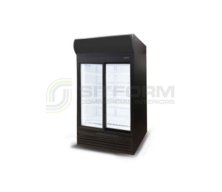 Bromic – GM0980LS LED Sliding Glass Door 945L Upright Display Chiller with Lightbox | Floor Standing - Cold Displays