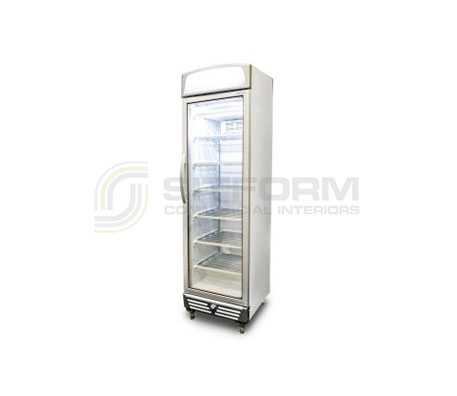 Bromic – UF0374LS LED LED Flat Glass Door 300L Upright Display Freezer with Lightbox | Upright Freezer & Ice Displays