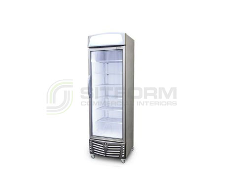 Bromic – UF0440LS LED Flat Glass Door 440L Upright Display Freezer with Lightbox | Upright Freezer & Ice Displays