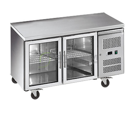 Exquisite SSC260G – Glass Door Underbench Chiller – 600mm Depth | Underbench Display Chillers