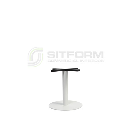 Trano Base coffee Table Disc 400mm – White   Indoor bases