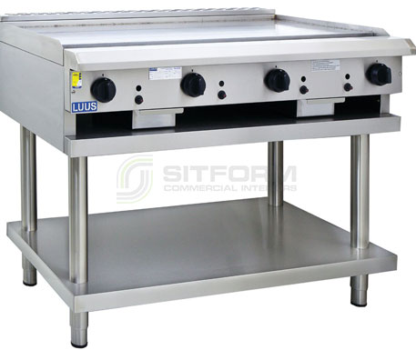 Luus Asian Series CS-12P-T – 1200mm Teppanyaki Grill with legs & shelf | Teppanyaki Grills