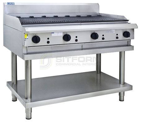 Luus  Professional Series  CS-12C –  1200mm Chargrill with legs & shelf | Char Grills & Barbecues