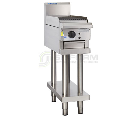Luus  Professional Series CS-3C –  300mm Chargrill with legs & shelf | Char Grills & Barbecues
