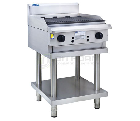Luus  Professional Series CS-6C – 600mm Chargrill with legs & shelf | Char Grills & Barbecues