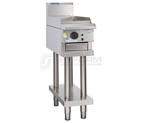 Luus Professional Series CS-3P – 300mm Griddle with legs & shelf | Griddles