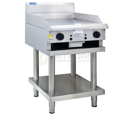 Luus Professional Series CS-6P –  600mm Griddle with legs & shelf | Griddles
