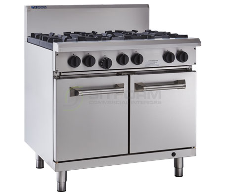 Luus Professional Series RS-4B3P – 4 Burner 300mm Griddle & Oven with flame failure | Ranges