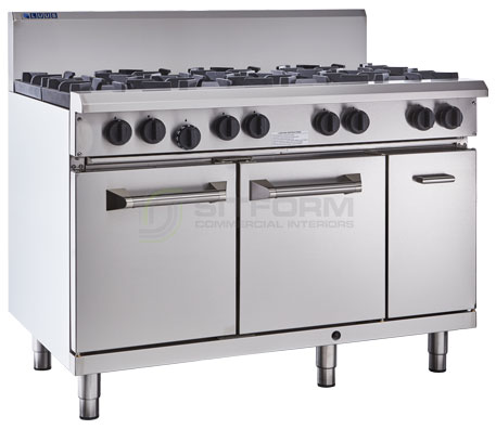 Luus  Professional Series – 6 Burner 300mm Griddle & Oven with flame failure   RS-6B3P | Ranges