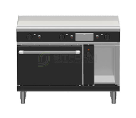 Waldorf Bold GPLB8121GEC – 1200mm Gas Griddle Electric Convection Oven Range Low Back Version | Ranges