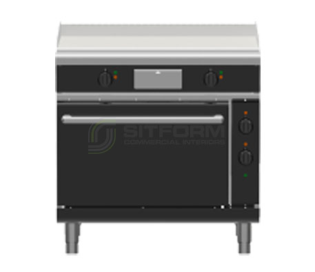Waldorf Bold GPLB8910EC – 900mm Electric Griddle Convection Oven Range Low Back Version | Ranges