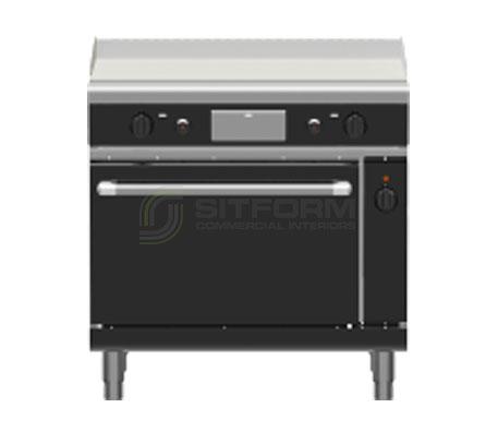 Waldorf Bold GPLB8910GEC – 900mm Gas Griddle Electric Convection Oven Range Low Back Version | Ranges