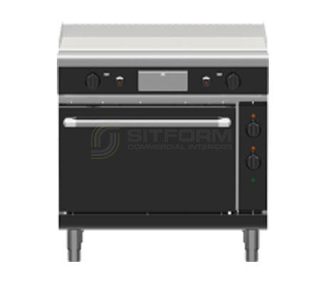 Waldorf Bold GPLB8910GE – 900mm Gas Griddle Electric Static Oven Range Low Back Version   Ranges