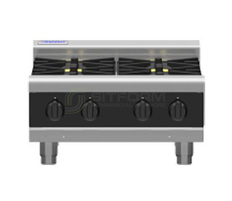 Waldorf Bold RNLB8400G-B – 600mm Gas 4 Burner Cooktop Low Back Version – Bench Model   Cooktops