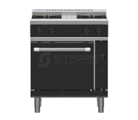 Waldorf Bold RNLB8510G – 750mm Gas Range Static Oven Low Back Version | Ranges