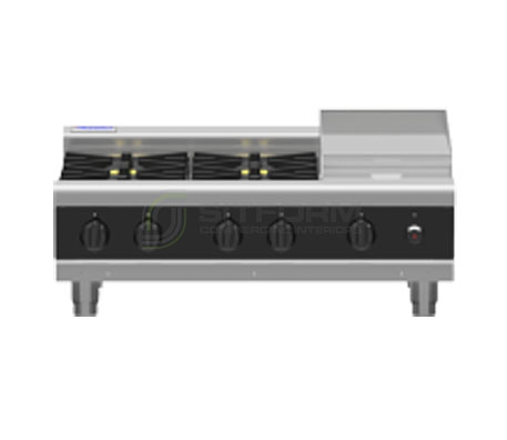 Waldorf Bold RNBL8603G-B – 900mm Gas 4 Burner Cooktop Low Back Version – Bench Model | Cooktops