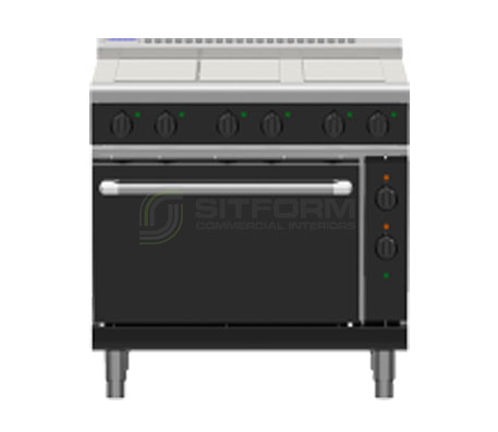 Waldorf Bold RNLB8610EC – 900mm Electric Range Convection Oven Low Back Version | Ranges