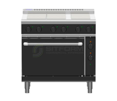 Waldorf Bold RNLB8610E – 900mm Electric Range Static Oven Low Back Version | Ranges