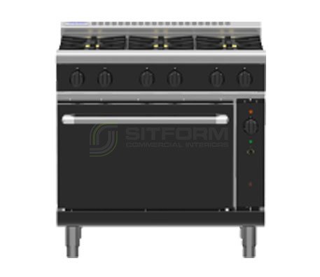 Waldorf Bold RNLB8610GC – 900mm Gas Range Convection Oven Low Back Version | Ranges