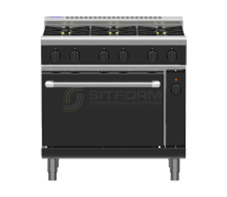 Waldorf Bold RNLB8610GEC – 900mm Gas Range Electric Convection Oven Low Back Version | Ranges