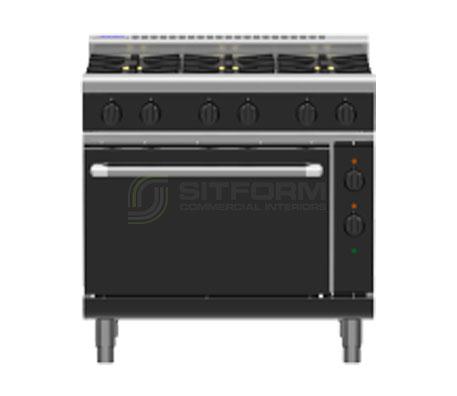 Waldorf Bold RNLB8610GE – 900mm Gas Range Electric Static Oven Low Back Version | Ranges