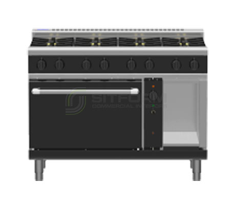 Waldorf Bold RNLB8810GC – 1200mm Gas Range Convection Oven Low Back Version | Ranges