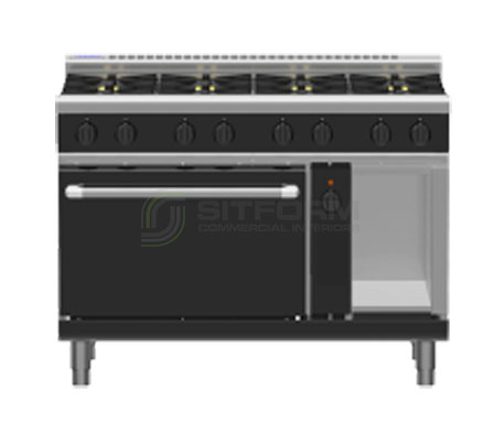 Waldorf Bold RNLB8810GEC – 1200mm Gas Range Electric Convection Oven Low Back Version | Ranges