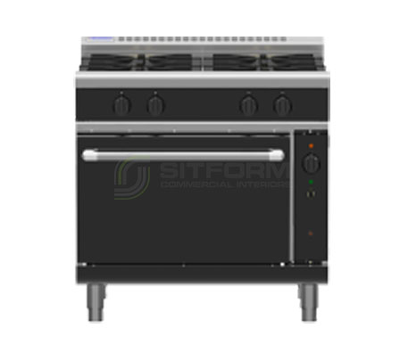 Waldorf Bold RNLB8910GC – 900mm Gas Range Convection Oven Low Back Version | Ranges