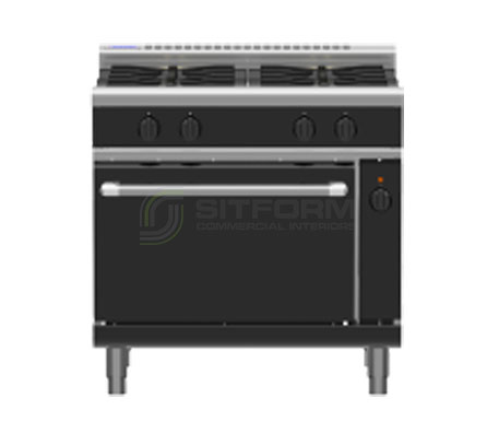 Waldorf Bold RNLB8910GEC – 900mm Gas Range Electric Convection Oven Low Back Version | Ranges