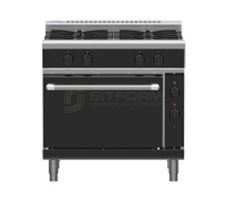 Waldorf Bold RNLB8910GE – 900mm Gas Range Electric Static Oven Low Back Version   Ranges