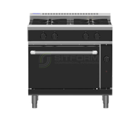 Waldorf Bold RNLB8910G – 900mm Gas Range Static Oven Low Back Version | Ranges