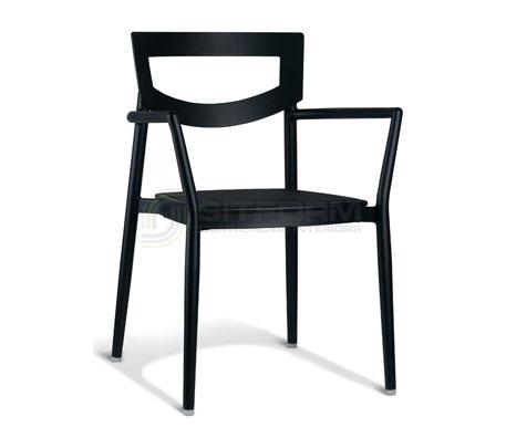 Charlotte Arm Chair – Black | Metal Chairs