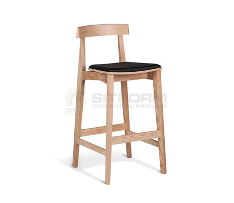 Isabella 750mm Stool – Black Seat | indoor stools