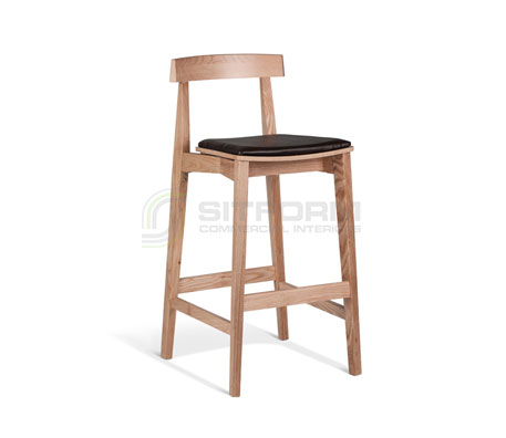 Isabella 750mm Stool – Brown Seat | indoor stools