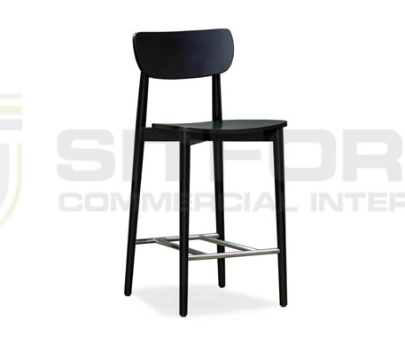 Natalie Stool 650mm  – With Timber Seat | indoor stools