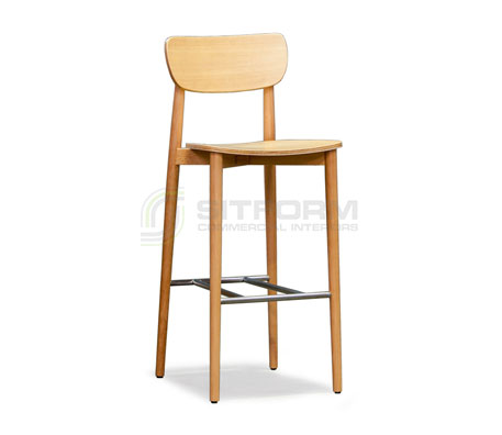 Natalie Stool 750MM – With Timber Seat | indoor stools