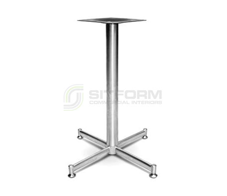 Tessie Base – BRUSHED SATIN | Commercial Table Bases | Commercial Furniture & Fit Outs