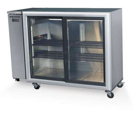 SKOPE  Backbar BB380 2 Glass Sliding Door Fridge – Remote | Bar Displays