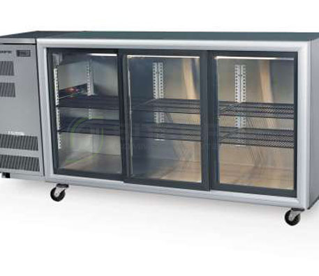 SKOPE  Backbar BB580 3 Glass Sliding Door Fridge | Bar Displays