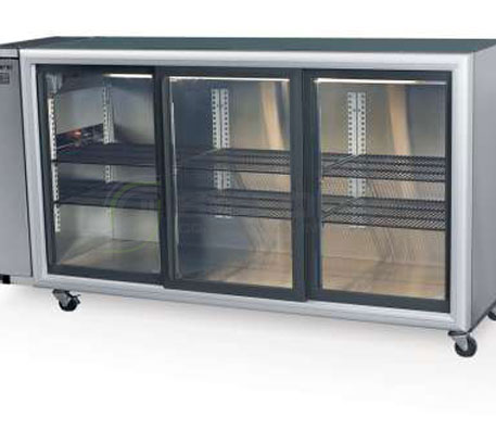 SKOPE  Backbar BB580 3 Glass Sliding Door Fridge – Remote | Bar Displays