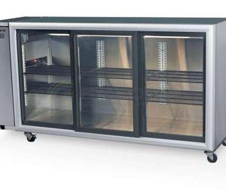SKOPE  Backbar BB580 3 Glass Sliding Door Fridge – Remote | Bar Displays